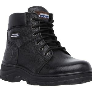 Skechers Work Relaxed Fit Boots Black